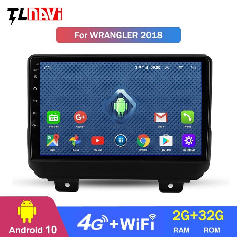 4G Lte 2G RAM 1Jeep Wrangler 4 JL 2018 2019 auto Radio Multimedia reproductor de Video GPS de navegación Android 10