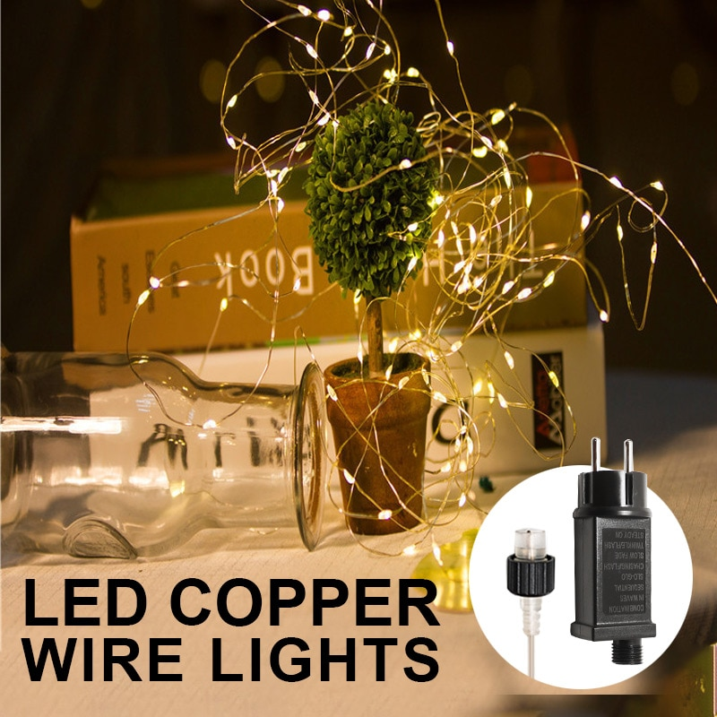 Christmas Decorations for Home Garland Led String Lights Outdoor Waterproof Holiday LightIing Tree G