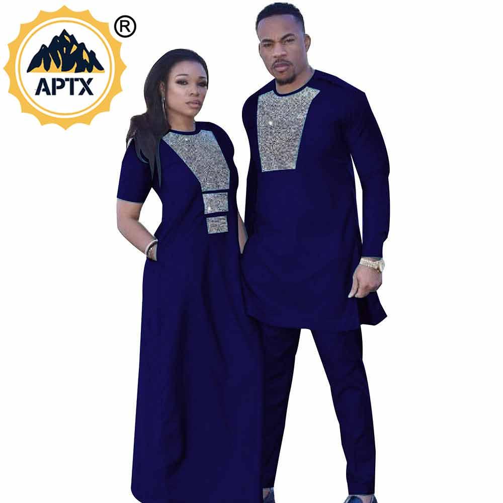 Vestido africano, vestido de pareja africana, maxi vestido mowling para mujeres domésticas o hombres para Ankara batik Tamaño personalizable oficial
