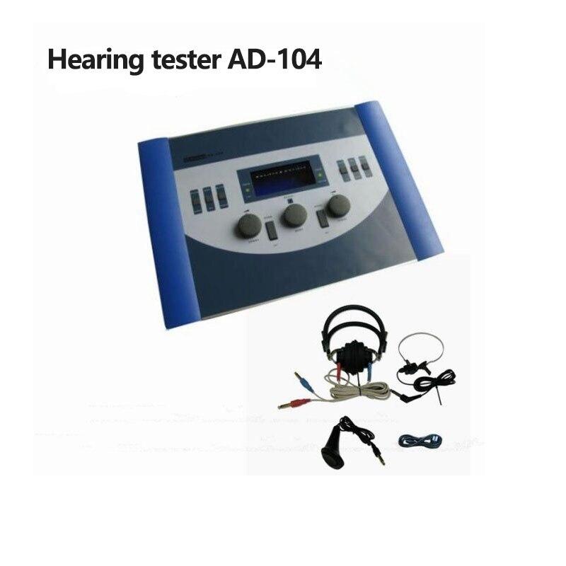 AD-104 audiómetro para prueba de pérdida de audición, audiómetro Digital, audífono, dispositivo portátil, envío gratis