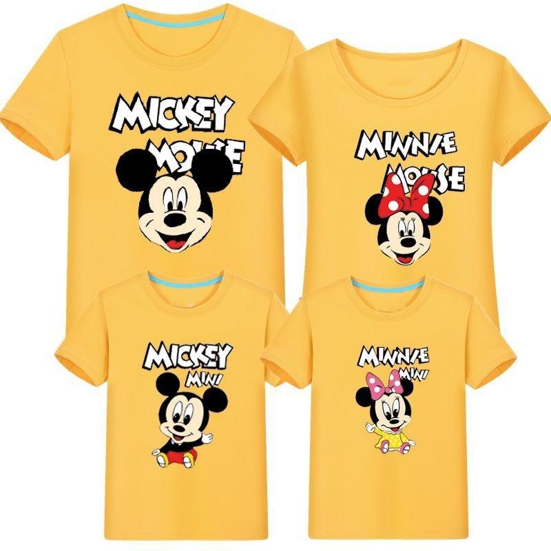 Família de verão combinando roupas mickey manga curta camiseta família mãe e filha roupas pai filho bebê crianças mama i corka