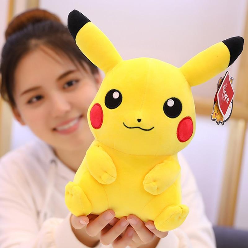 TAKARA TOMY 20CM Pokemon Cute Pikachu Plush Dolls Stuffed Toy Cartoons Anime Kawaii Movie Dolls Girl Kids Toys Christmas Gifts