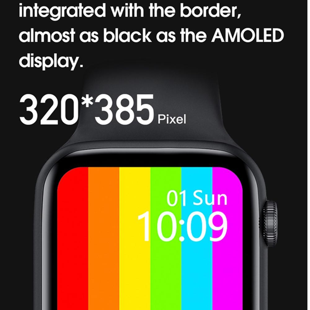 Get 5PCS C55 W16 W26 W26 Pro W46 Smart Watch 6 ECG SmartWatch 1.75 inch infinite Screen for IOS Android Heart Rate Blood Pressure