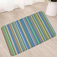 colorful stripe bath mat geometry non slip mats water absorption carpet doormat shower room kitchen toilet douch bathroom rugs