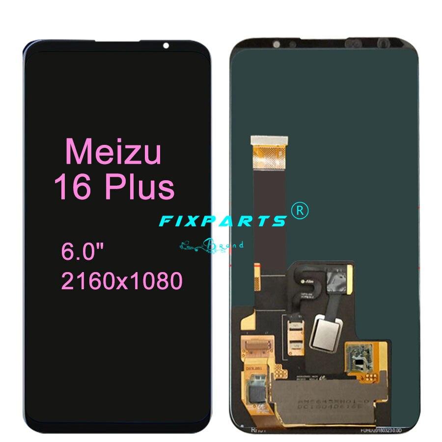Original New Meizu 16 Plus LCD meizu 16th LCD Display Replacement Touch Screen Digitizer Black White Meizu 16X LCD Meizu 16S Pro enlarge