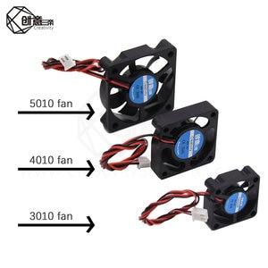 1PCS 3010/4010/5010 12V 24V Cooling Turbo Fan Brushless DC Cooler Blower 2-Wire Black Plastic Fan For 3D Printer