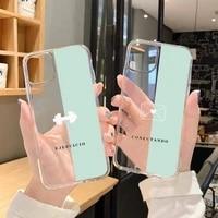 cortoon design funny life signs phone case transparent for iphone 6 7 8 11 12 s mini pro x xs xr max plus se cover funda