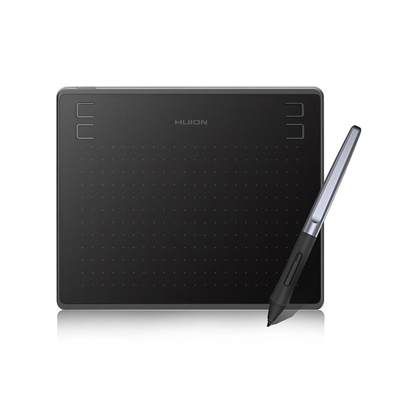 Huion أحدث HS64 6x4inch لويحة الرسم البياني الرقمي القلم اللوحي مع بطارية خالية من القلم لنظام أندرويد ويندوز macOS