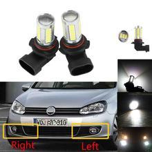 2Pcs LED Light Fog Lamp For VW Golf 6 Jetta 6 Caddy Touran Tiguan Car-Styling Front LED Fog Lamp Fog Light