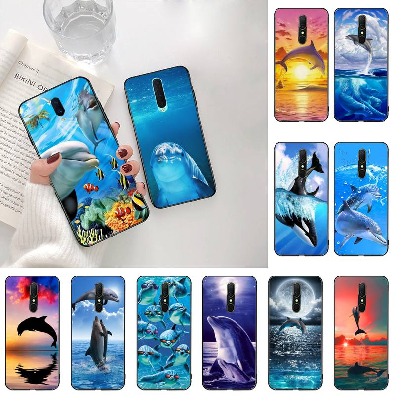 Sea Animal Cute Dolphin Phone Cases For Oppo A5 A9 2020 Reno2 z Renoace 3pro A73S A71 F11