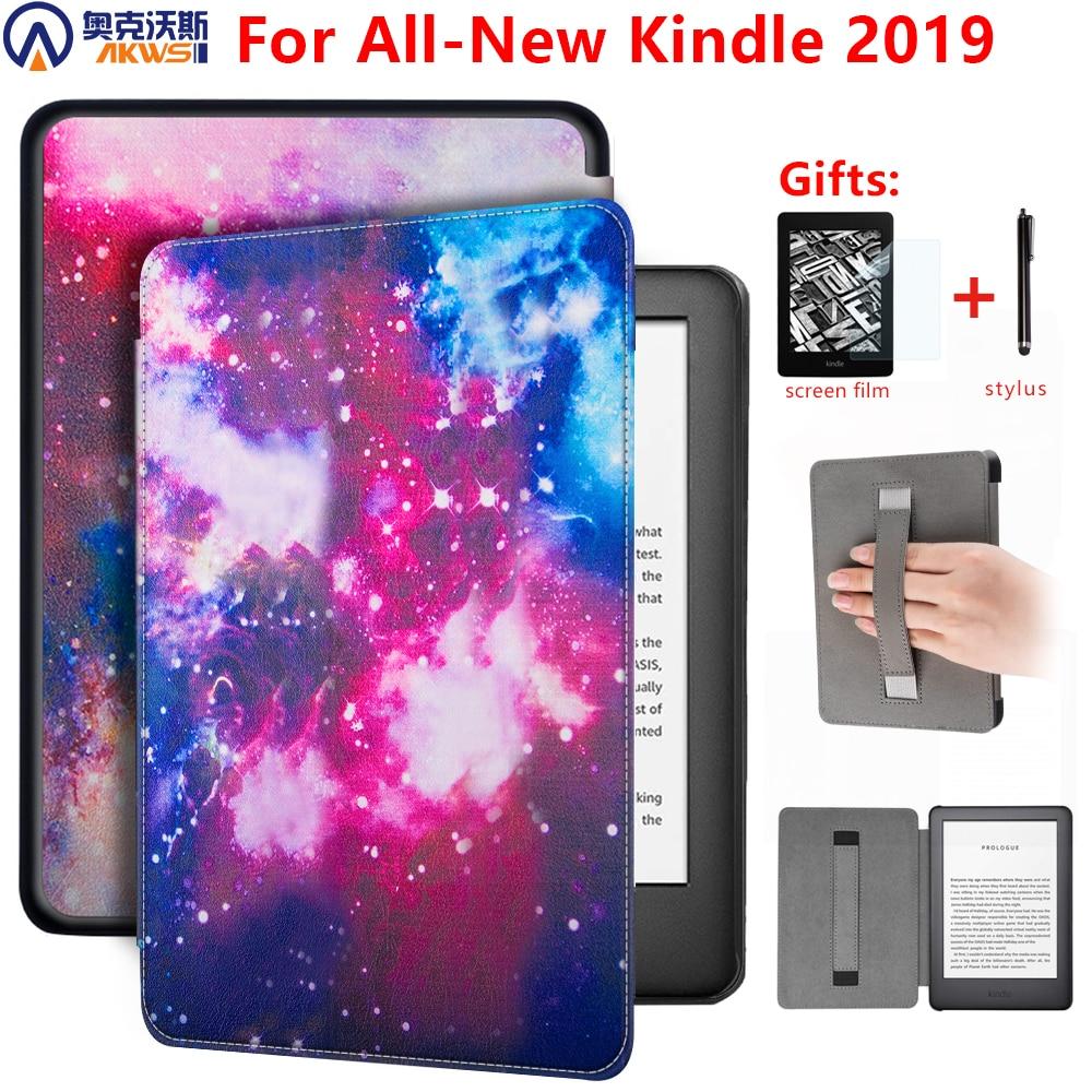 Чехол на магните для Amazon new Kindle 10th Generation 2019 6 дюймов чехол для e-reader Kindle 2019 чехол с держателем для рук + подарок