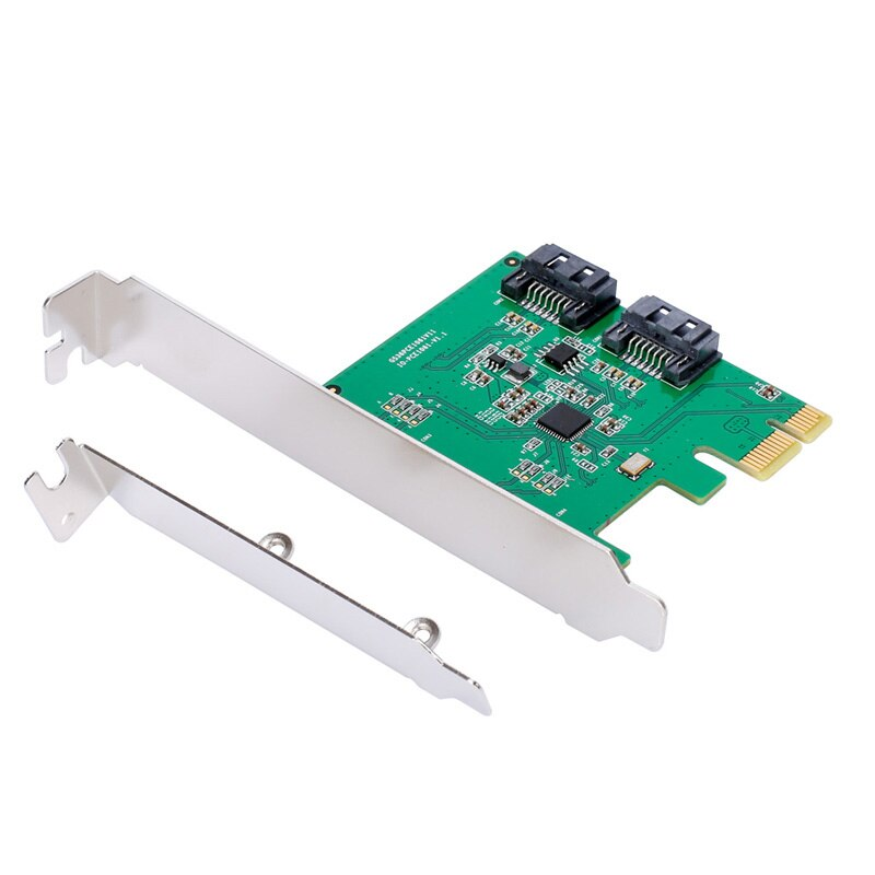 QINDIAN PCI Express PCIE PCI-E карта SATA контроллер SATA 2-Порты и разъёмы SATA 3 PCIe 2,0x1 карточная игра низкий кронштейн ASMedia ASM1061 чип