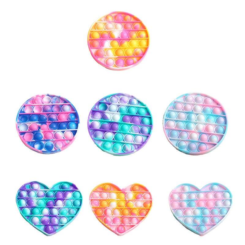 JIMITU Push Bubble Fidget Tie-dye Pops Sensory Antistress  Toy Autism Special Needs Stress Reliever Child Adult Educational ToyS недорого
