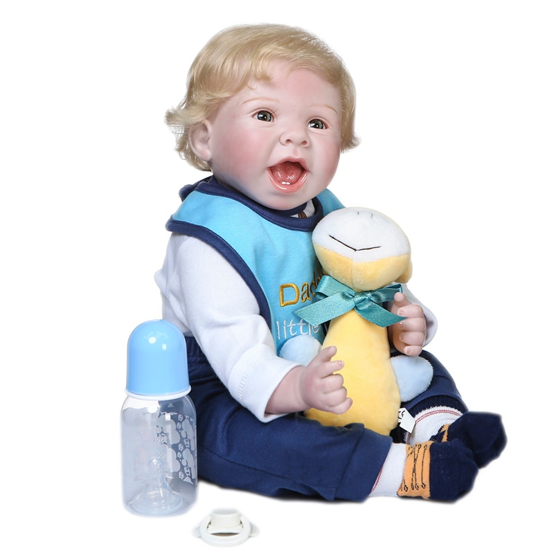 Muñeca de bebé renacido realista, muñeco de bebé de silicona hecho a...