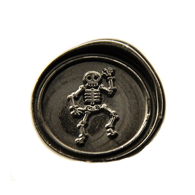 Cool Skull hombre cera sello para boda invitación decoración Halloween Kit de sellos de cera-C486