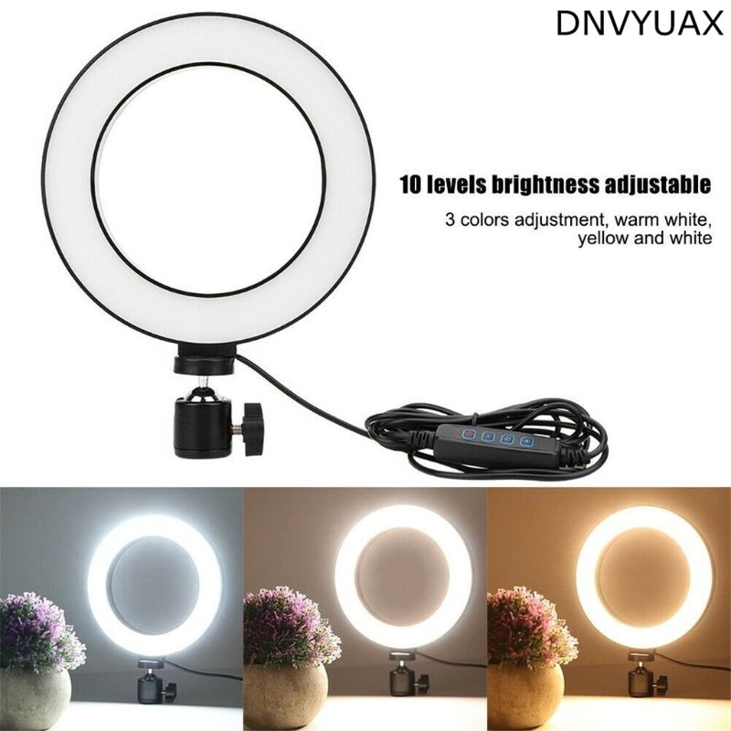 1 unidad Anillo de luz LED Selfie Fill Lamp 10 niveles de brillo regulable 3 modos de luz para transmisión de vida/fotografía/grabación