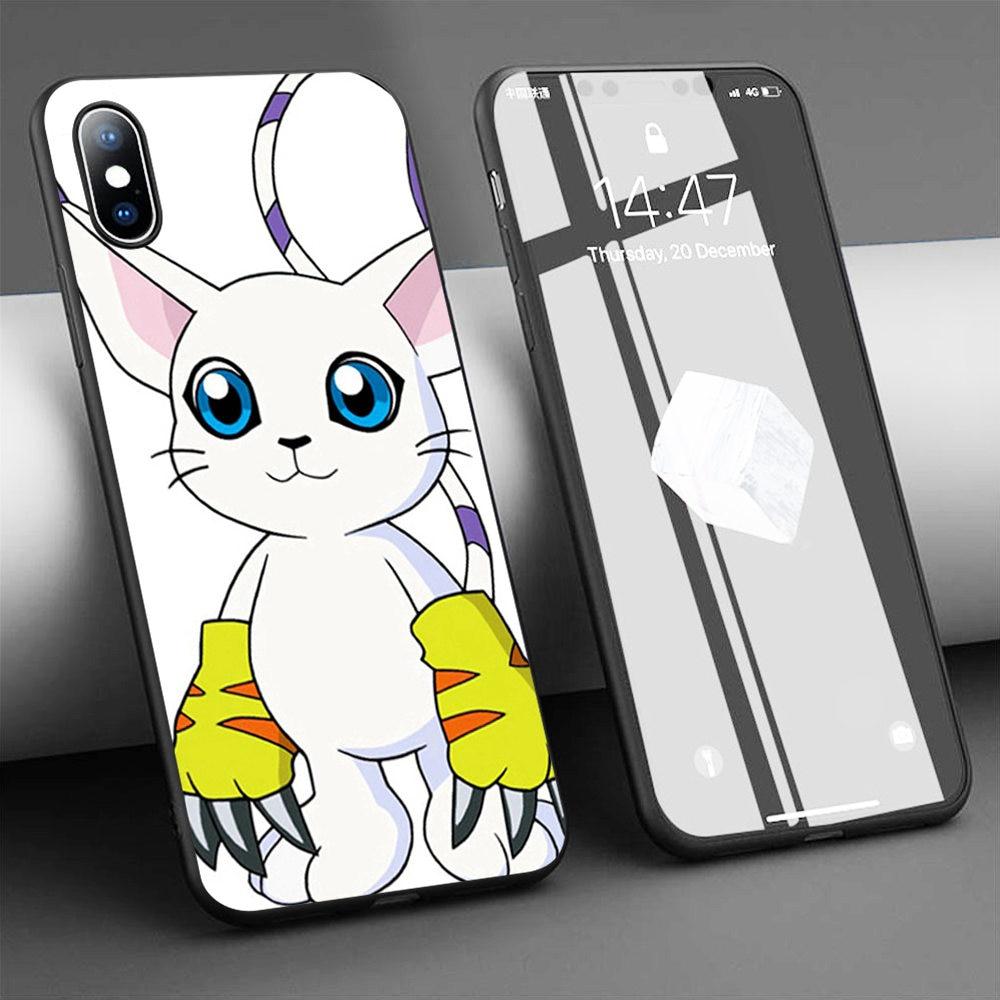 Funda de teléfono de silicona blanda Coque Digimon gatom para iPhone 11 Pro Max X 5S 6 6S XR XS Max 7 8 Plus