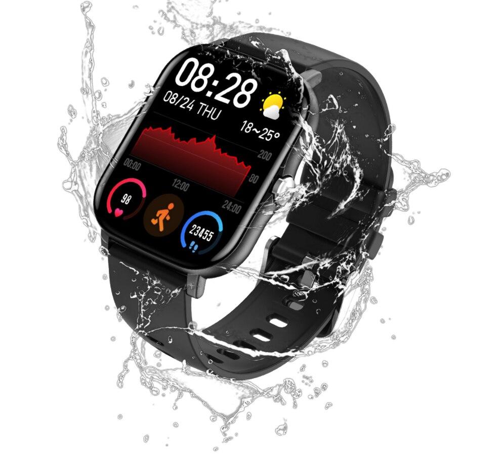 Smartwatch 2021 IP68 مقاوم للماء 1.7 بوصة لتقوم بها بنفسك الطلب 15 يوما الاستعداد اللياقة البدنية الرياضة للرجال KT48 ساعة ذكية