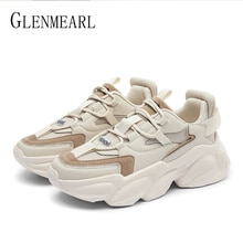 Women's Sports Shoes Platform Chunky Vulcanize Sneakers Comfotable Women Shoes Casual High Sneaker W
