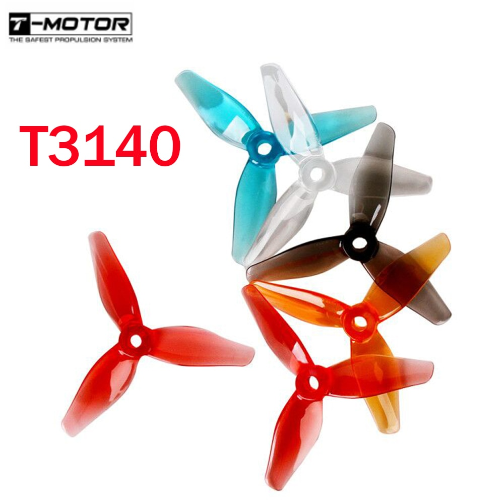24 uds/12 pares t-motor T3140 3140 3,1x4 3,1 pulgadas 3 hojas hélice M5 agujero para RC Drone FPV Racing