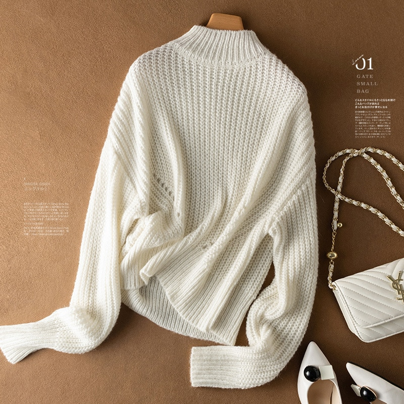 Shuchan Loose-fitting Wool Knit Sweater Pullover Autumn Winter New Casual Fall Clothes for Women Free Shipping Items Clothes enlarge
