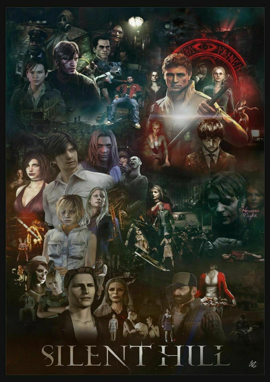 SILENT HILL Game Art Film Печатный Шелковый плакат домашний Настенный декор 24x36inch