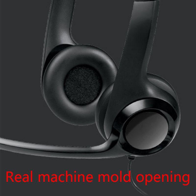 Almohadillas de cuero suave para auriculares inalámbricos Logitech H390 H600 H609