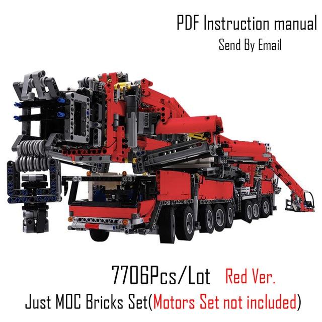 ¡Novedad! Grúa multifunción MOC RC LTM11200 apta para kits de MOC-20920 de Motor técnico lepin, bloques de construcción, regalos de juguete DIY