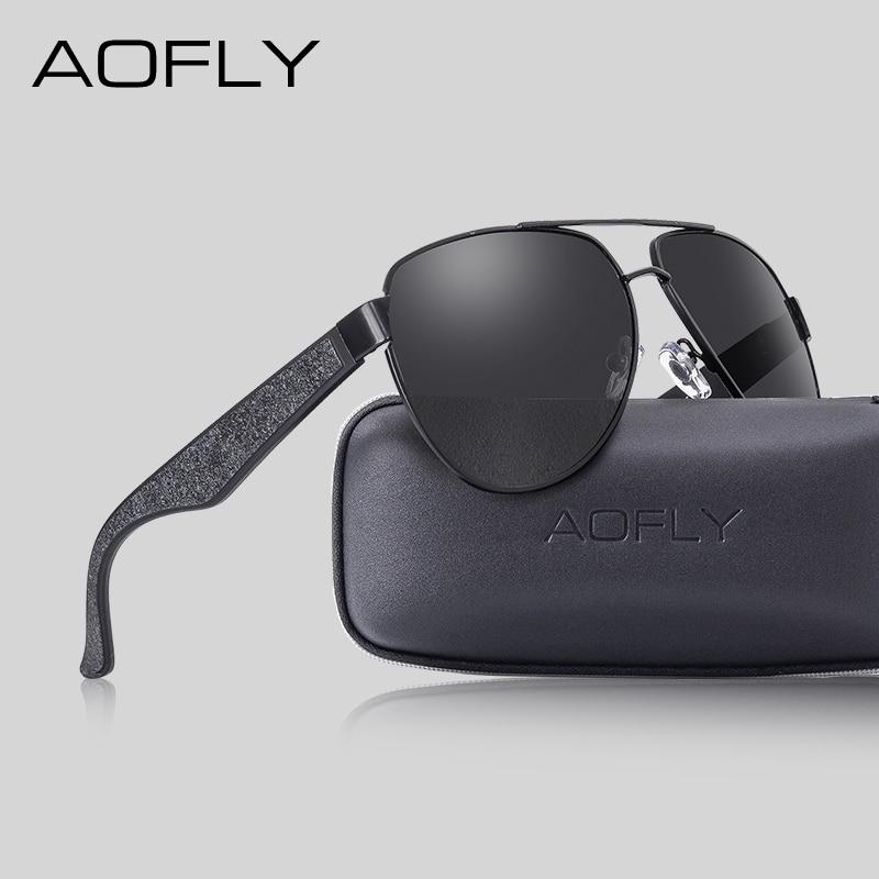 AOFLY Brand Design Pilot Sun Glasses Male Polarized Alloy Frame Mirror Lens Driving Sunglasses For Men/Women Fashion Goggles