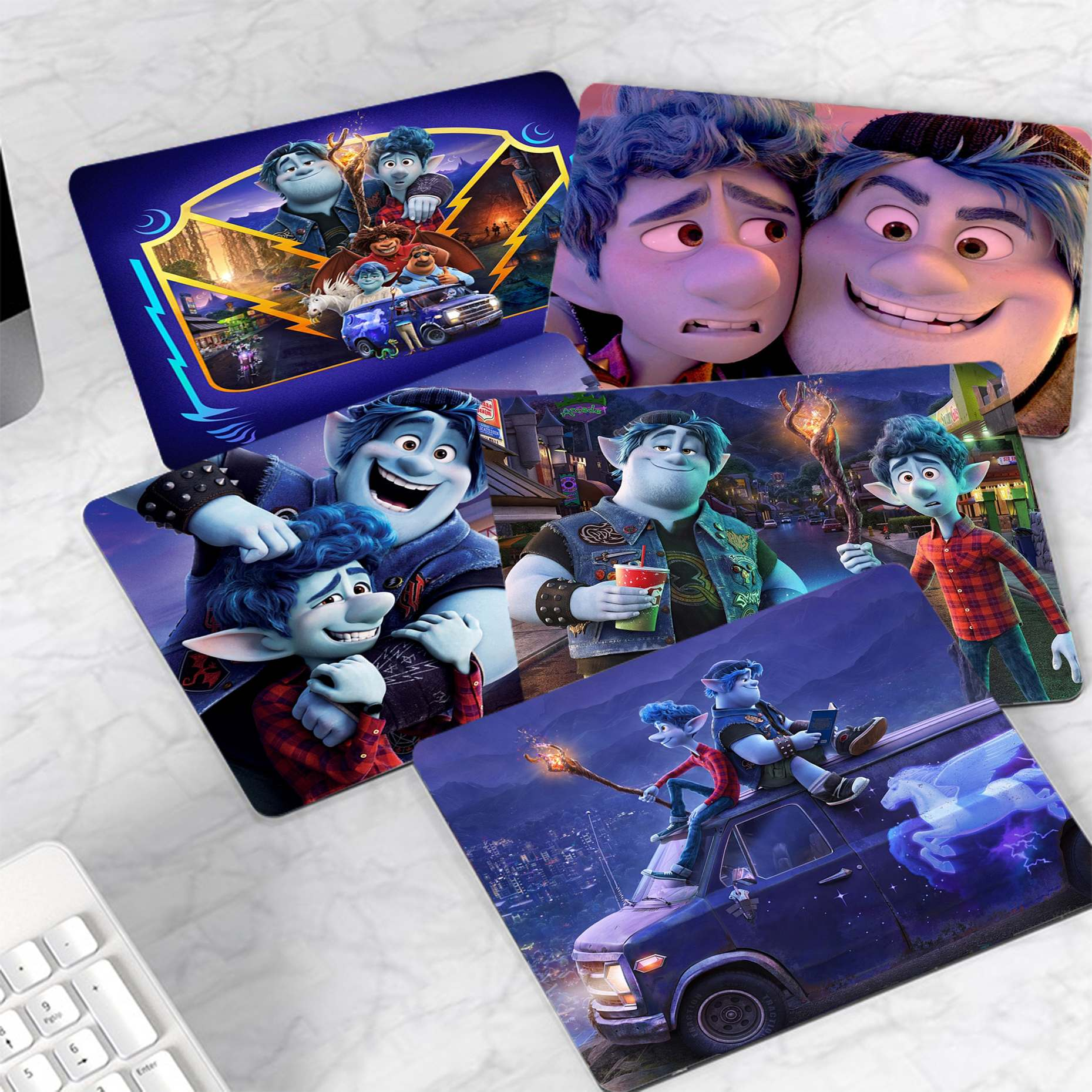 Personalized Cool Fashion Disney Onward Anime small Mouse pad PC Computer mat Smooth Writing Pad Desktops Mate gaming mouse pad maiya funny tie dye customized mousepads computer laptop anime mouse mat smooth writing pad desktops mate gaming mouse pad