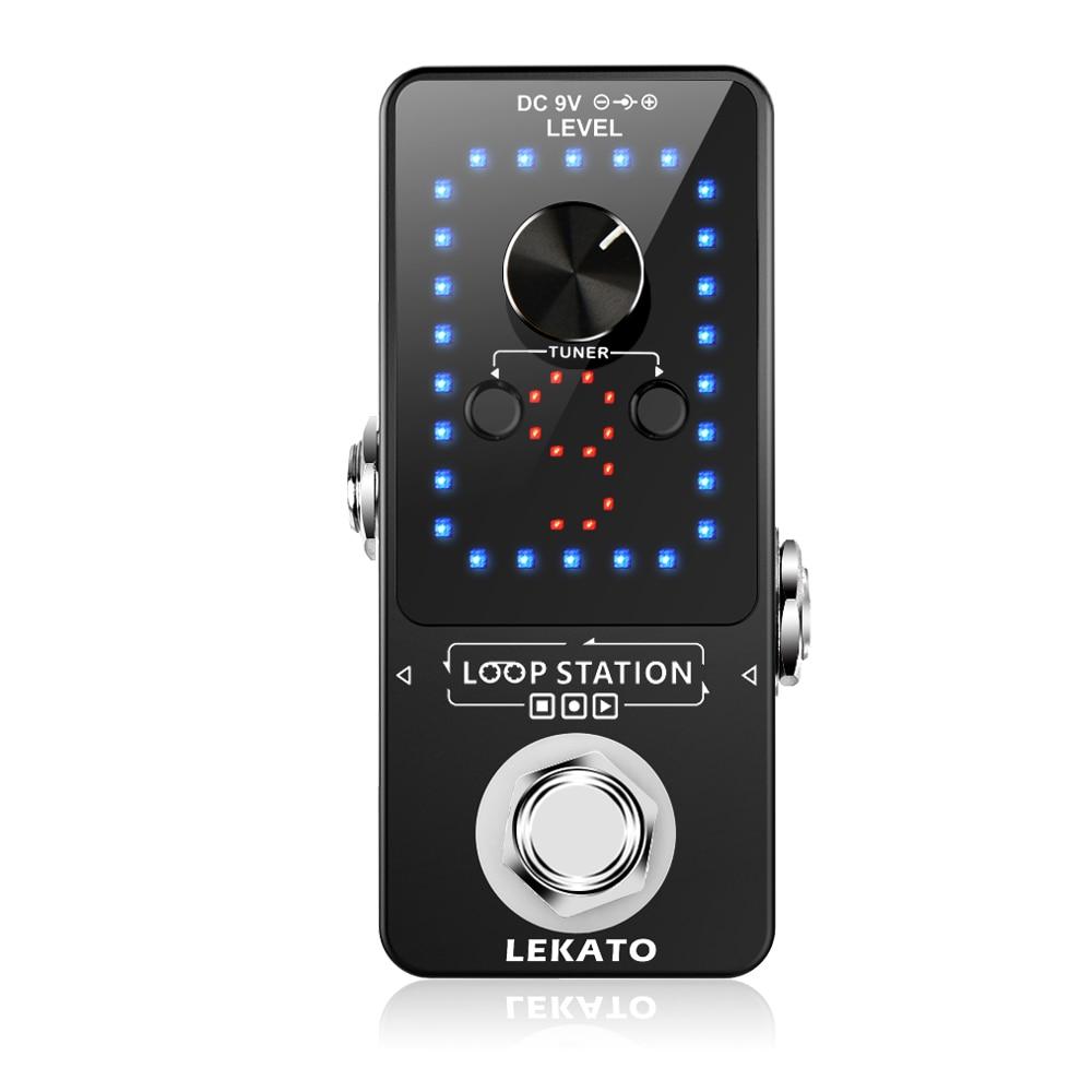 LEKATO Looper Guitar Pedal Guitarra Loop Electric Guitar Effect Pedal Unlimited Overdubs Guitar Parts9 Loops 40 Minutes