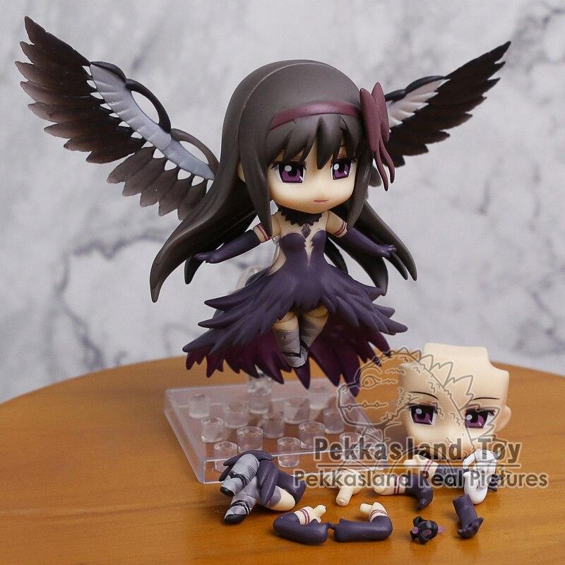 """Puella magi madoka magica akemi homura 456 pvc figura de ação coleção modelo brinquedo 4 """"10 cm"""