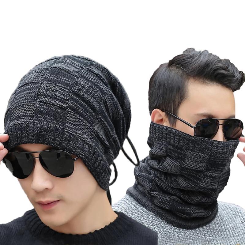 Winter Hat Men Beanies Neck Warm Loop Wind Proof Korean Womens Beanie Knit Hats Turban Hat Outdoor