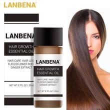 20ML Hair Growth Essential Oil Fast Growth Hair Loss Treatments Fleeceflower Root Ginger Extract Liq