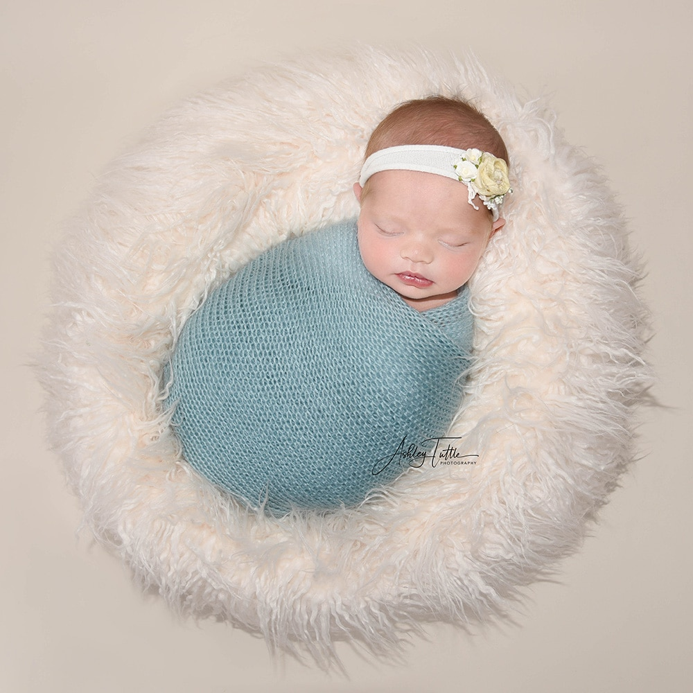 Don&Judy Beanbag Posing Round Pillow for Baby Newborn Photography Prop Newborn Posing Pillow Infant Bean Bag Positioner Poser