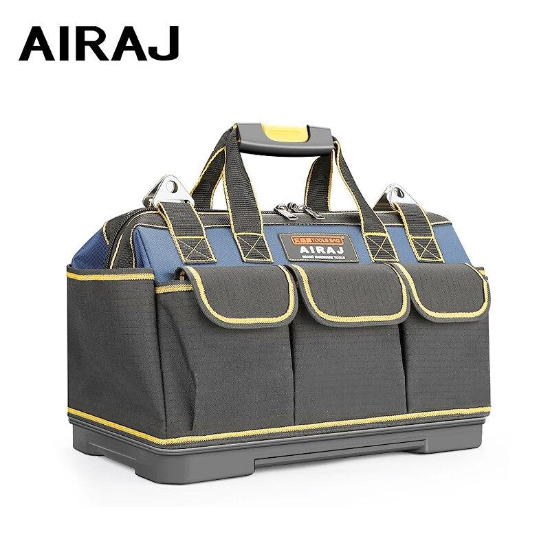 AIRAJ 2021 Upgrade Tool Bag 13/15/17/19/23 in Electrician Bag 1680D Oxford Waterproof Wear-Resistant Strong Tool Storage Toolkit