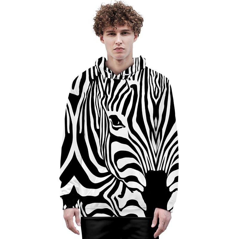 Animal cebra caballo de 3d sudaderas con capucha suéter hombres mujeres Sudadera con capucha Tops Casual de manga larga 3D capucha sudaderas con capucha 4XL