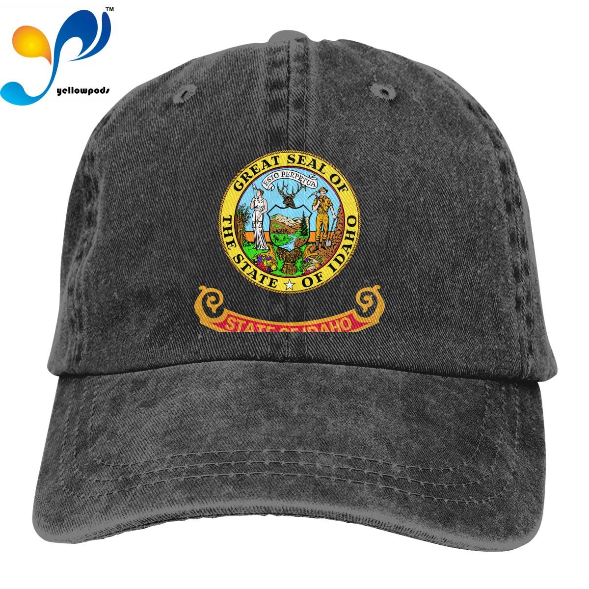 Fashion Baseball Cap Print 3D Flag Of Idaho Logo Hats Men Women Cotton Outdoor Simple Visor Casual