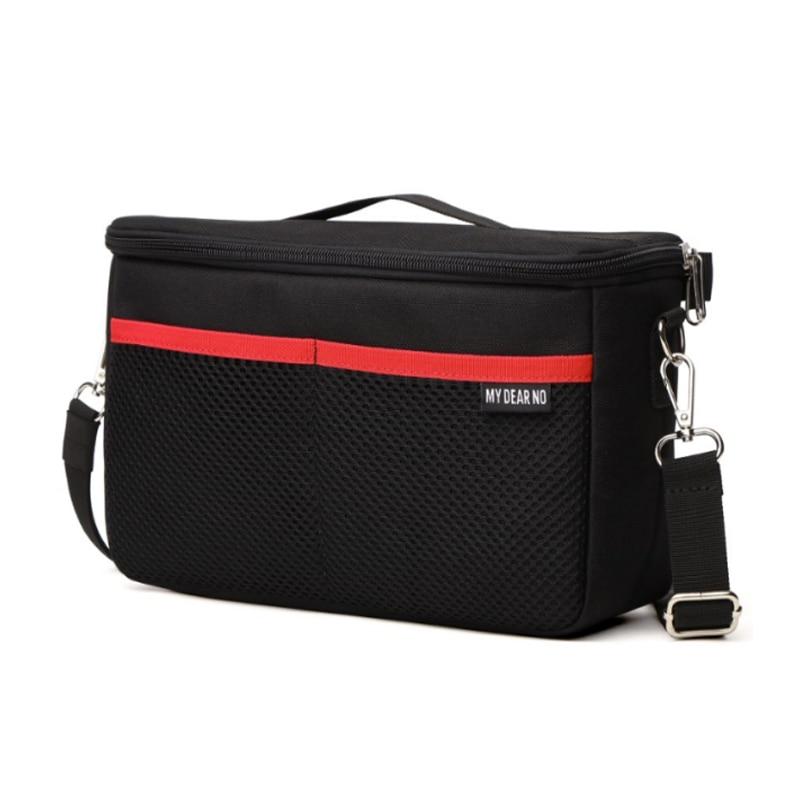 Черный мягкий чехол для камеры DSLR с разделителем, водонепроницаемый Встроенный чехол для камеры Nikon для объектива Canon