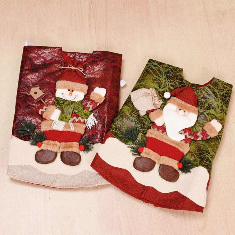 Falda de árbol de navidad de Papá Noel, tapete de árbol de...