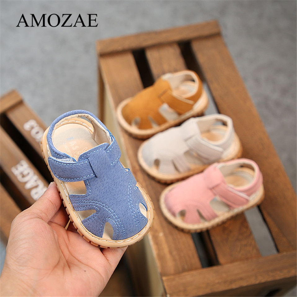 Baby Shoes Summer Rubber Bottom First Walker Breathable Beach Infant Toddler Anti-Slip Pink Denim Cute