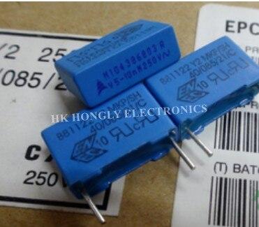 20 pces b81122 y2 mkp/sh a 10n 47n u1 m 250v 0.01uf 0.047uf 0.1uf 250vac 103m 473m 104m p = 15mm p = 22.5mm capacitor de filme