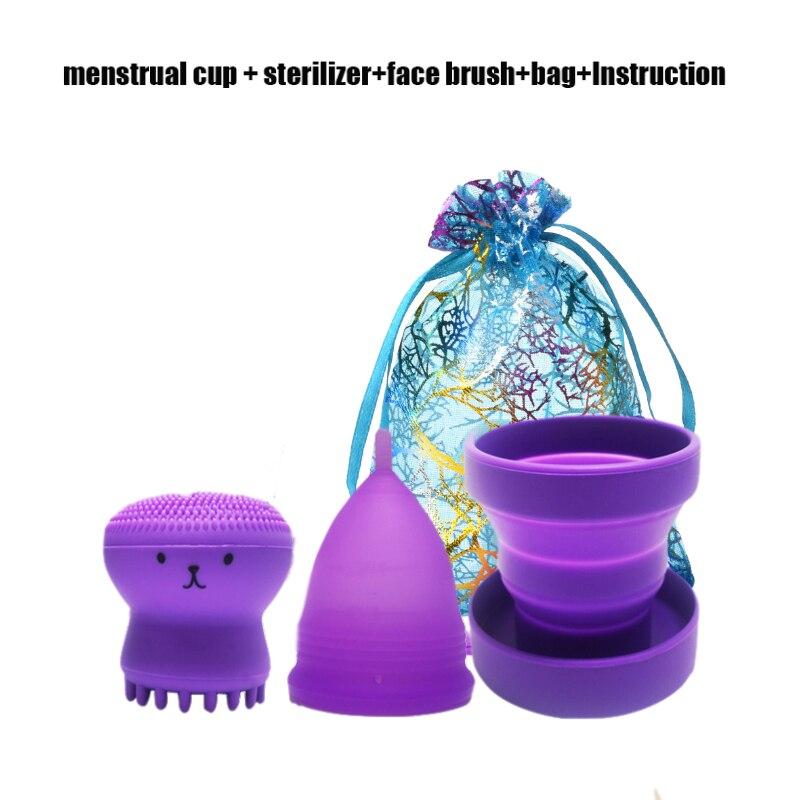 Менструальная чаша медицинская силиконовая складная силиконовая чаша для чистого менструального периода Женская менструальная чаша для к...