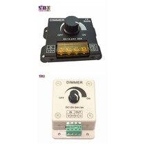 DC12V-24V LED Dimmer 8A 30A 96W 360W lámpara con brillo ajustable de conductor de luz controlador LED de un solo Color 5050 cinta 3528