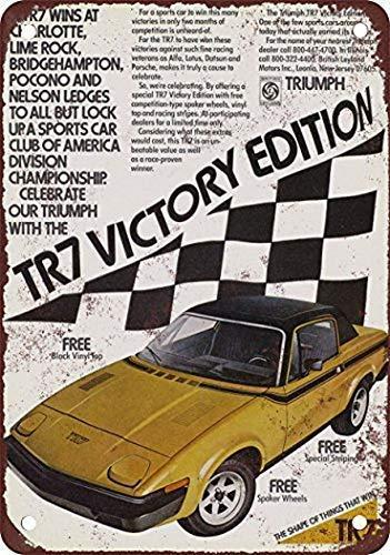 Винтажные Ретро знаки жестяной знак винтажный Декор 12x8 дюймов, 1976 Triumph, знак комнаты настенный Декор Алюминиевый металлический жестяной зна...