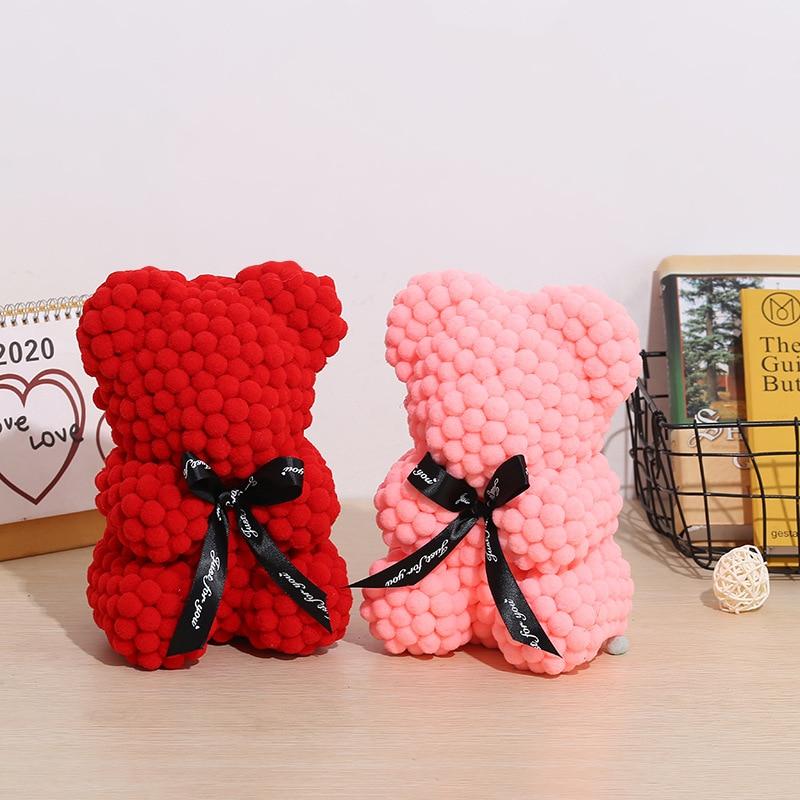 Urso de ursinho rosa do algodão do urso dos namorados do dia dos namorados ursos 25cm