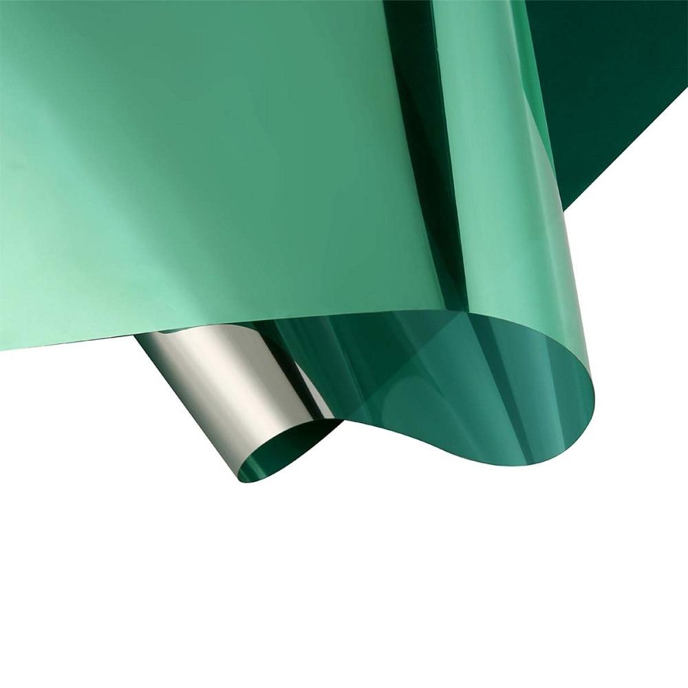 Película de ventana verde y plateada, película de reducción de brillo, espejo de una vía, Drop-Shipping, aislamiento térmico, UV, bloqueador, protector solar, película de ventana