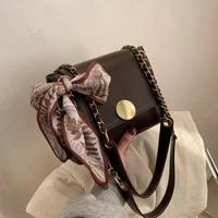 crossbody bags for women leather messenger bags female flap shoulder bag designer sac vintage ribbon handbags ladies bolsa new