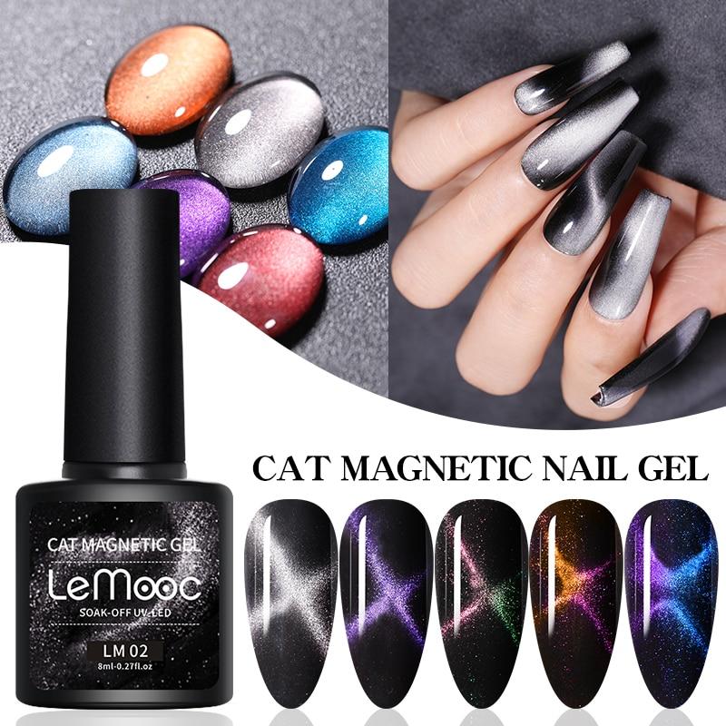 LEMOOC 5D Chameleon Cat Magnetic Gel Nail Polish Long Lasting Shining Lacquers Shiny Beauty Design Polishes