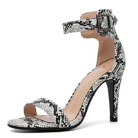 new high quality serpentine women sandals summer sexy thin high heels shoes fashion classic concise ankle wrap buckle sandals 43